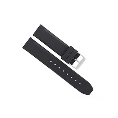 20mm Rubber Diverバンドストラップfor Croton腕時計ブラック# 32r