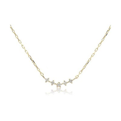 L&Co (エルアンドコー) 【ギフトBOX付】 K10 横並び ダイヤモンド ペンダント ネックレス 66-7605