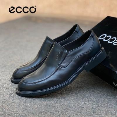 ECCO CITYTRAY SLIP-ON エコー 38-44 スリップオン メンズ ブラック シューズ レトロ トレンディエコー