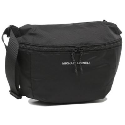 マイケルリンネル ショルダーバッグ ユニセックス 3L MICHAEL LINNELL MLEP-05 ブラック【返品OK】