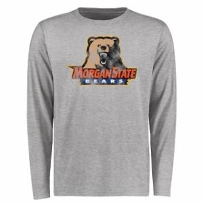 Fanatics Branded ファナティクス ブランド スポーツ用品  Morgan State Bears Ash Big & Tall Classic Primary Long Sleeve T-Shirt