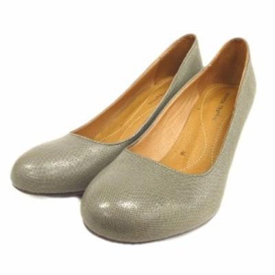 【中古】オリエンタルトラフィック ORIENTAL TRAFFIC ラウンドトゥ パンプス ヒール シューズ 靴 41 グレー系 ▼1