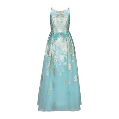 MARIA COCA ロングワンピース&ドレス ターコイズブルー 36 シルク 100% / ポリエステル ロングワンピース&ドレス