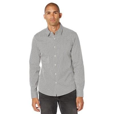 マイケルコース シャツ トップス メンズ Long Sleeve Geo Print Shirt Black