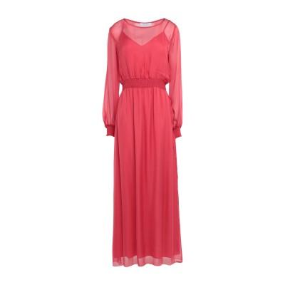 カオス KAOS ロングワンピース&ドレス コーラル 40 シルク 100% ロングワンピース&ドレス