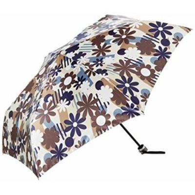 (ムーンバット) 傘 V.Y 婦人トップレスミニ P50Dサテンプリント レディース ベージュ 親骨の長さ:55cm 収納時:約25cm