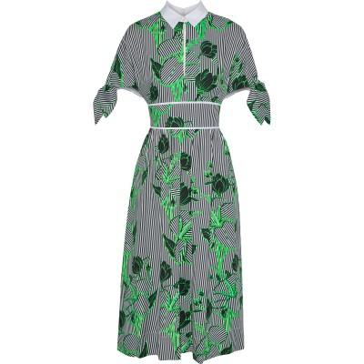 レラ・ローズ LELA ROSE 7分丈ワンピース・ドレス ブラック 10 コットン 97% / ポリウレタン 3% 7分丈ワンピース・ドレス