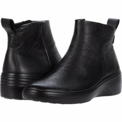 エコー ECCO レディース ブーツ ウェッジソール シューズ・靴 Soft 7 Wedge City Boot Black/Black