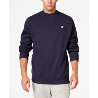 チャンピオン メンズ シャツ トップス Men's Powerblend Fleece Sweatshirt Navy