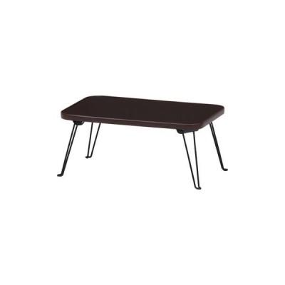 不二貿易 カラーミニテーブル BR/BK CCB4530-BR/BK 14423