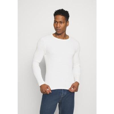 メンズ ファッション ONSLEXON LIFE STRUCTURE CREW NECK - Jumper - star white