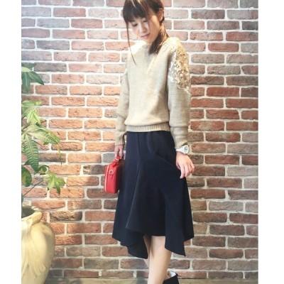 【PICCIN】フロントラッフルスカート