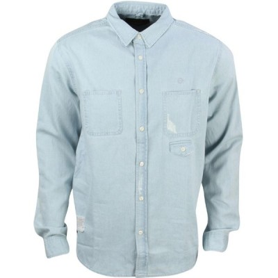 テンディープ 10 Deep メンズ シャツ トップス Destructo Long Sleeve Shirt blue/light damage