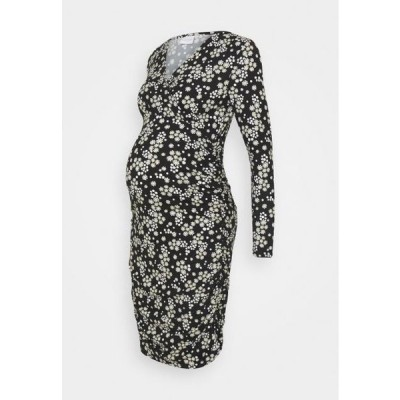 レディース ドレス NURSING DRESS - Shift dress - black/flowers