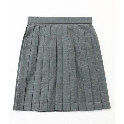 スカート No7005 NEWグレー 無地 プリーツスカート ミニスカート 30cm丈 膝上丈 レディース アジャスター付き wsk-04
