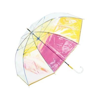 雨傘 ビニール傘 傘 パイピング オーロラ クリア Wpc.