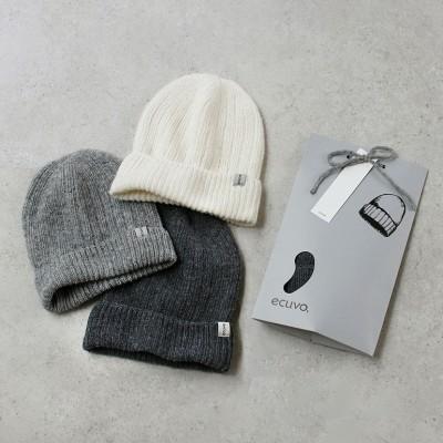 ecuvo エクボ|ニット帽【全3色】(White)