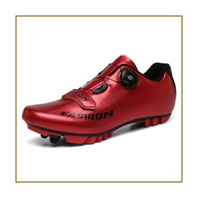 TPbike Comfortable Cycling Shoes-MTB Shoes SPD Mountain Bike Shoes Compatible Cleats Breathable Non-Slip Outdoor Cycle Sneakers Unisex D Red