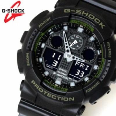 カシオ CASIO Gショック G-SHOCK アナデジ メンズ 腕時計 ブラック 緑 カーキ GA-100L-1A 【激安】 【SALE】