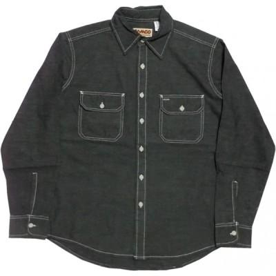 カムコ 長袖 シャンブレーシャツ ブラック メンズ CAMCO CHAMBRAY SHIRTS 018