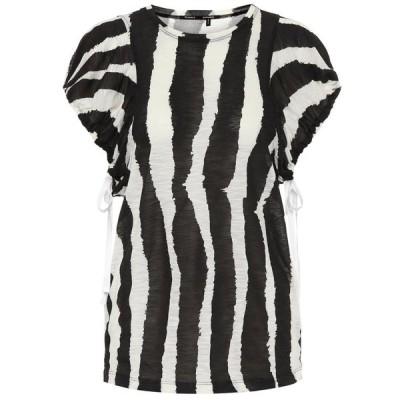 プロエンザ スクーラー Proenza Schouler レディース トップス zebra-print cotton top Black/Ecru Zebra