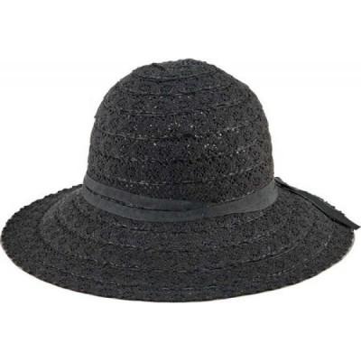 サンディエゴハット San Diego Hat Company レディース ハット サンハット 帽子 Lace Sun Hat with Tie MXM1035 Black