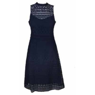 Jessica Simpson ジェシカシンプソン ファッション ドレス Jessica Simpson Deep Navy Lace Back-Cutout Dress