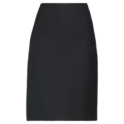 HOTEL PARTICULIER ひざ丈スカート ブラック 36 ポリエチレン 55% / ウール 45% ひざ丈スカート