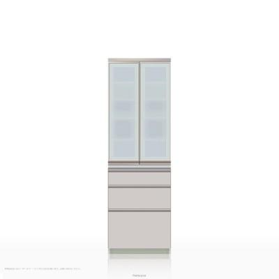 食器棚 パモウナ MEシリーズ ME-S600K [開き扉] (幅60cm, 奥行き45cm, シルキーアッシュ色)