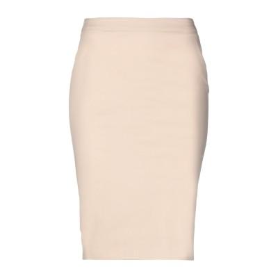パトリツィア ペペ PATRIZIA PEPE ひざ丈スカート ベージュ 42 コットン 98% / ポリウレタン 2% ひざ丈スカート
