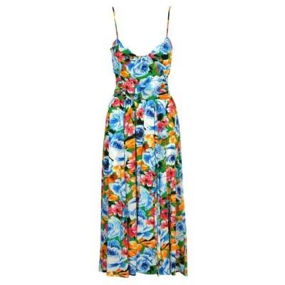 エムエスジイエム レディース ワンピース トップス MSGM Floral Print Dress -