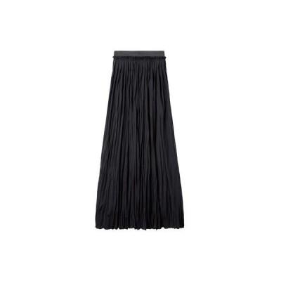 ラナン Ranan カットソーマキシスカート (ブラック)