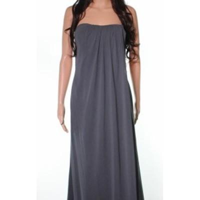 Jenny Yoo ジェニーヨー ファッション ドレス Jenny Yoo NEW Gray Womens Size 8 Strapless Sit Draped Sheath Dress