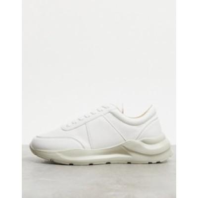 エイソス メンズ スニーカー シューズ ASOS DESIGN sneakers in white with texture White