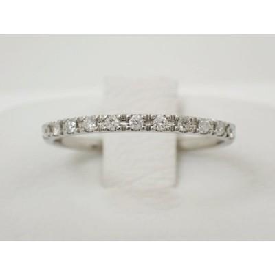 ヴァンドーム青山 VENDOME AOYAMA VA PT950  ハーフエタニティ ハーフサークル ダイヤ リング 指輪 0.11ct #10.5号 中古美品
