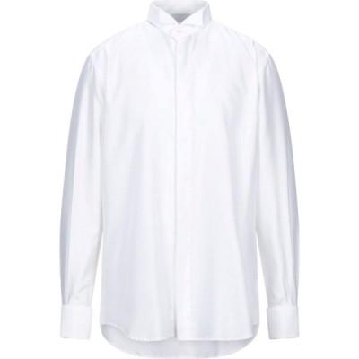 ザカス XACUS メンズ シャツ トップス Solid Color Shirt White