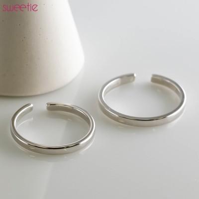 kirakirashop リング《シルバー925 シンプルデザインオープンリング指輪 1色2サイズ》 レディース メンズ ユニセックス 男女兼用 小物 雑貨 アクセサリー ジュエリー 指輪 オープンリング シンプル ベーシック 華奢 大人 上品 スタイリッシュ シルバー925[slv0005] シルバー フリー レディース