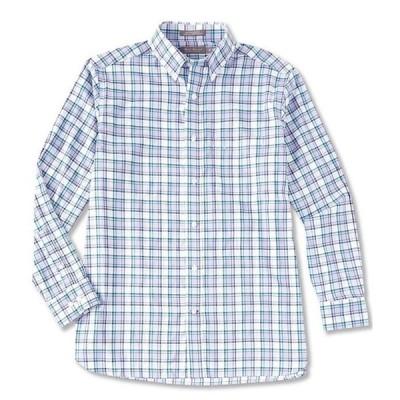 ダニエル クレミュ メンズ シャツ トップス Daniel Cremieux Signature Basketweave Plaid Long-Sleeve Woven Shirt