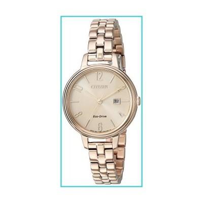 Citizen EW2443-55X Women's Chandler Rose Gold Dial Rose Gold Steel Bracelet Eco-Drive Watch【並行輸入品】