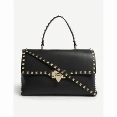 ヴァレンティノ トートバッグ rockstud leather tote bag Black