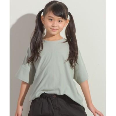 OMNES / キッズ梨地ビッグボックス半袖Tシャツ KIDS トップス > Tシャツ/カットソー