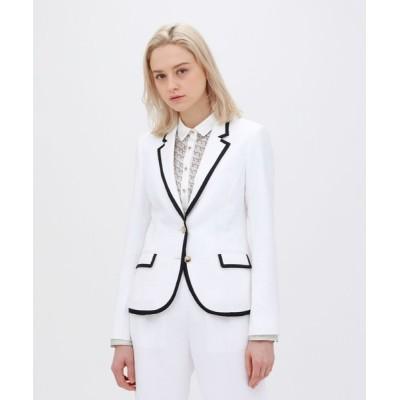 LOVELESS / ホワイト パイピングジャケット WOMEN ジャケット/アウター > テーラードジャケット