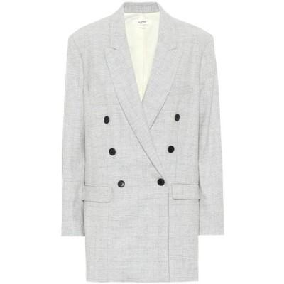 イザベル マラン Isabel Marant, Etoile レディース スーツ・ジャケット アウター eagan checked wool-blend blazer Light Grey