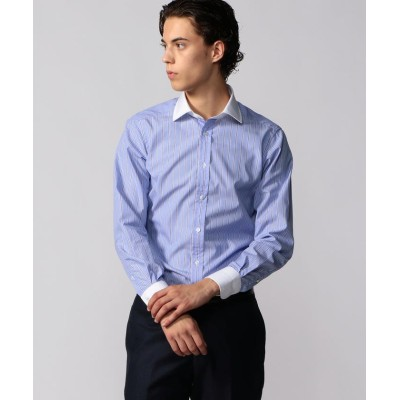 【トゥモローランド】 120/2コットンブロード クレリック ワイドカラー ドレスシャツ NEW WIDE-3 メンズ 68ネイビー系 37 TOMORROWLAND