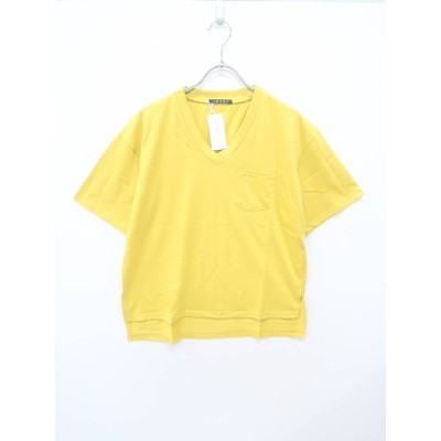 INGNI(イング)ポケット付Tシャツ 半袖 黄 レディース 新品 M