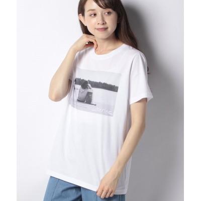 【ルーニィ】 プリントTシャツ レディース 人物×犬 38 LOUNIE