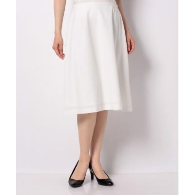 (MISS J/ミス ジェイ)【洗える】ライトドライギャバ Aラインスカート/レディース ホワイト