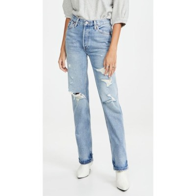 リダン RE/DONE レディース ジーンズ・デニム ボトムス・パンツ 90s High Rise Loose Jeans Medium Destroy