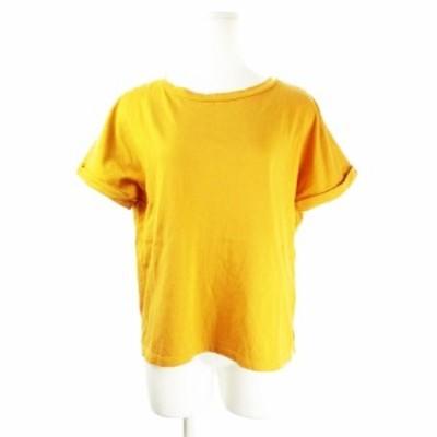 【中古】リシェグラマー Riche glamour Tシャツ カットソー ラウンドネック 半袖 厚手 M 黄 マスタード レディース