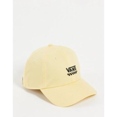 バンズ レディース 帽子 アクセサリー Vans Court Side cap in yellow Yellow